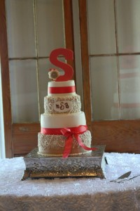 Bridal wedding cake